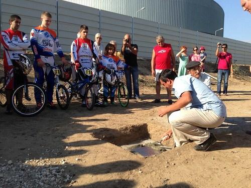 Lançada a primeira pedra da pista olímpica de BMX