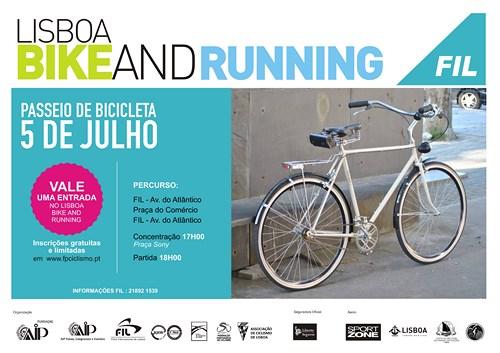 Lotação esgotada para passeio Bike & Running