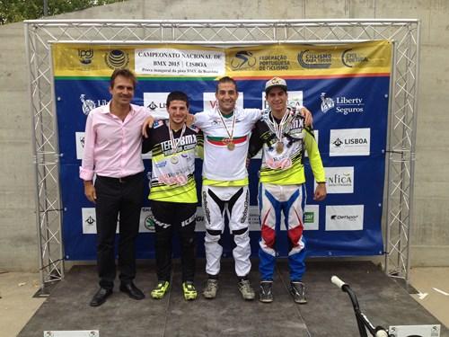 Hugo Martins campeão nacional de BMX race