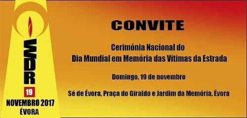 Dia Mundial em Memória das Vítimas da Estrada em Évora