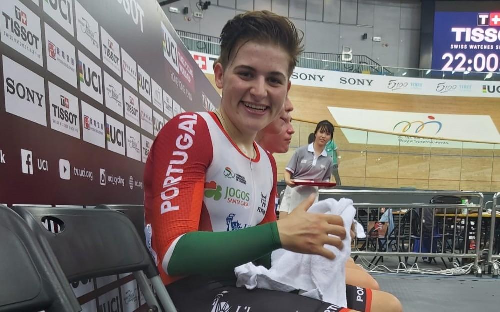 Maria Martins segunda classificada no concurso olímpico de omnium