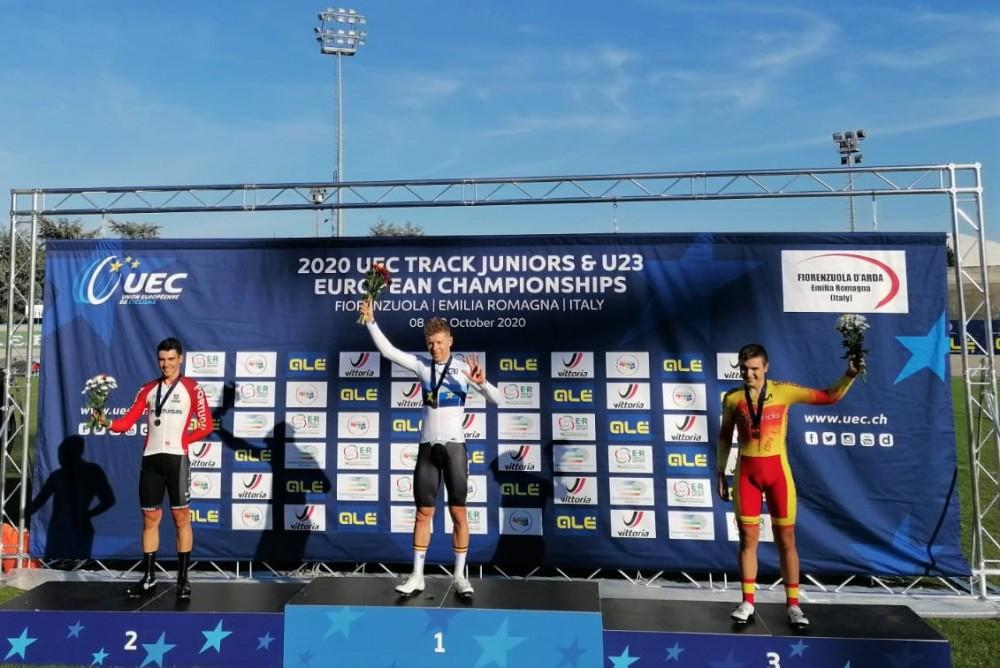 Iuri Leitão conquista medalha de prata na prova de eliminação do Europeu
