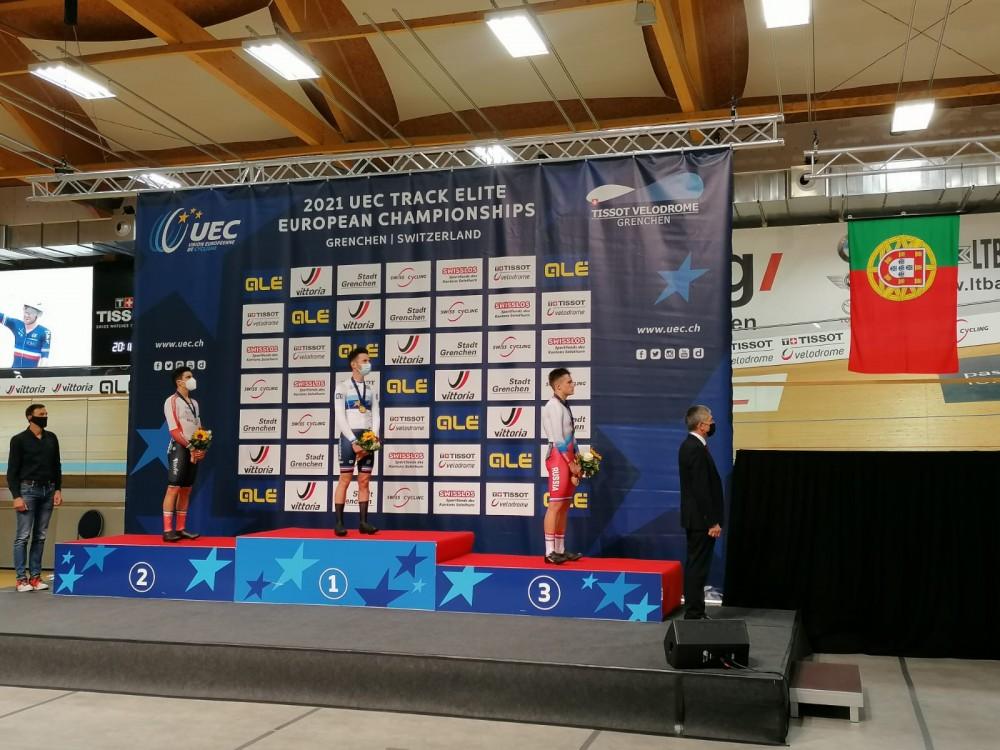 Iúri Leitão vice-campeão europeu na corrida por pontos