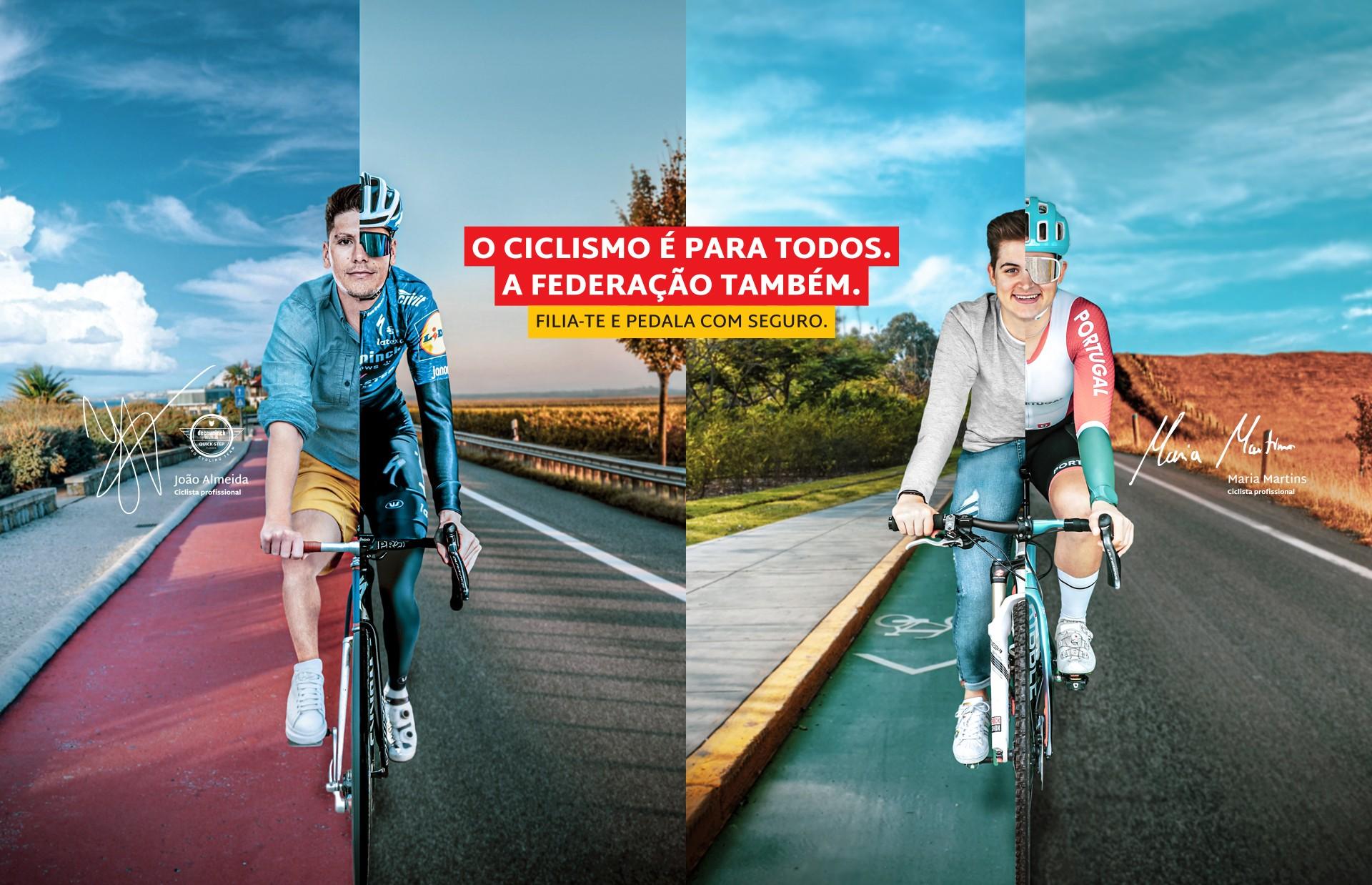 João Almeida e Maria Martins convidam portugueses a pedalar em segurança