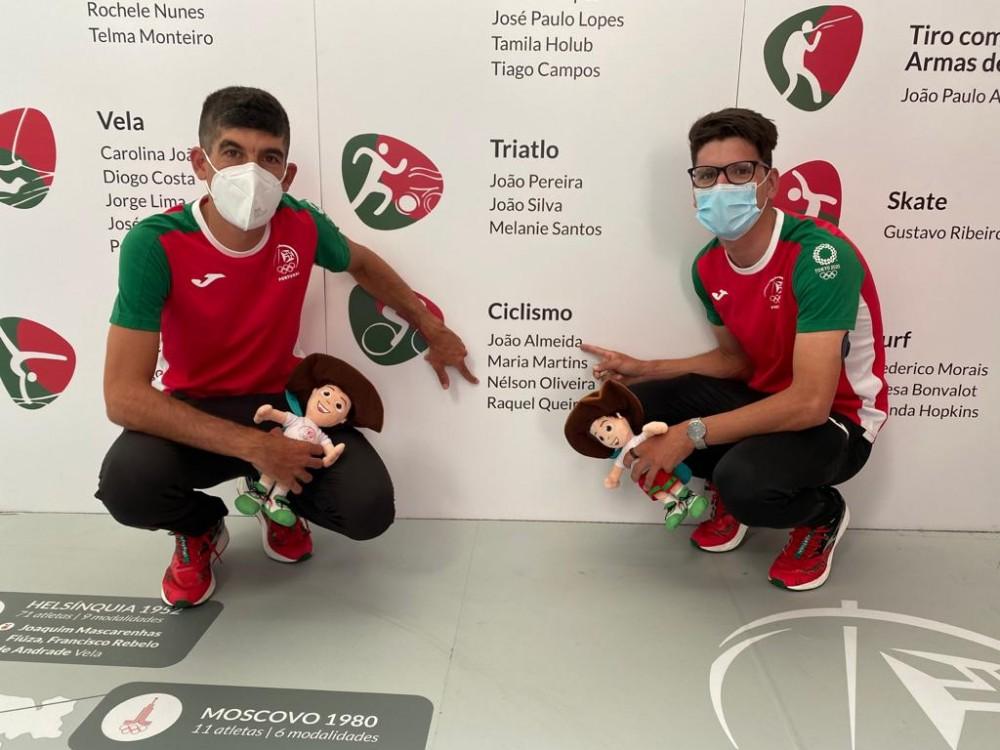 João Almeida e Nelson Oliveira com ambição de brilhar na prova de fundo dos Jogos Olímpicos